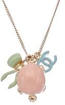 Chanel Gold-tone Multicolor Enamel Cc Necklace.
