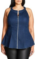 City Chic Plus Size Women's Denim Destiny Top