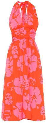 STAUD Moana floral stretch-cotton dress