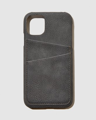 Typo - Grey Phone Cases - Cardholder Phone Cover iPhone 11 - Size One Size at The Iconic