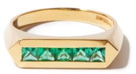 Lizzie Mandler - Emerald & 18kt Gold Ring - Green Gold