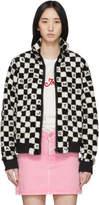 Marc Jacobs Black and White Logo Checkered Fleece Jacket