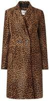LK Bennett Dia Animal Leather Coat