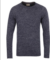 Nudie Jeans Vladimir Navy Wool & Linen Blend Sweater