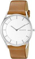 Skagen Men's SKW6219 Holst Dark Brown Leather Watch
