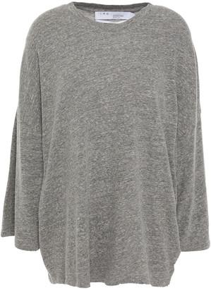 IRO Oversized Melange Stretch-jersey Top