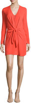3.1 Phillip Lim Long-Sleeve Knotted Sheath Dress, Poppy