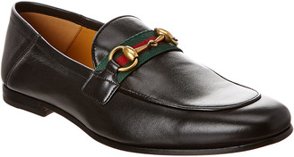 Gucci Horsebit Web Leather Loafer