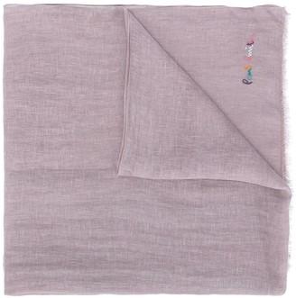 Paul Smith Rainbow Embroidered Scarf