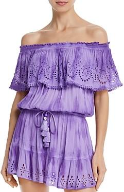 Ramy Brook Marino Off-The-Shoulder Mini Dress Swim Cover-Up