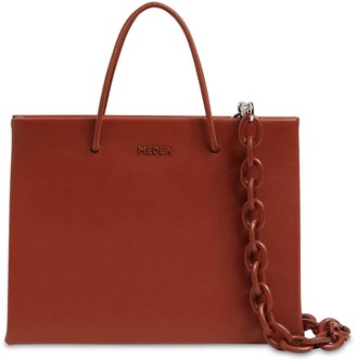 Medea Hanna Leather Top Handle Bag W/chain