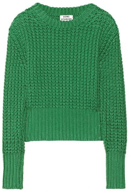 Acne Lia chunky-knit cotton sweater