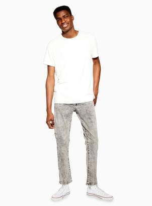 TopmanTopman Slim Grey Marble Wash Jeans