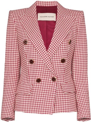 Alexandre Vauthier Double-Breasted Houndstooth Blazer