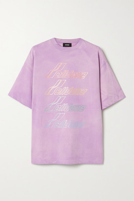 we11done Oversized Printed Cotton-jersey T-shirt - Lavender