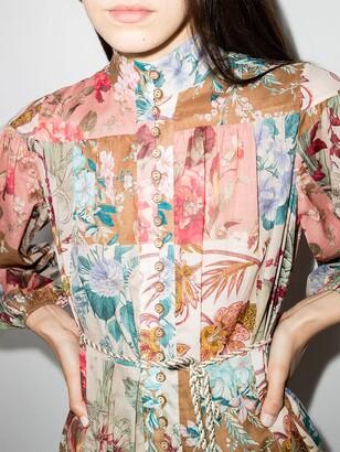 Zimmermann Cassia patchwork-design dress