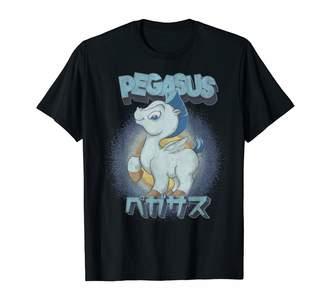 Disney Hercules Pegasus Kanji Portrait Logo T-Shirt