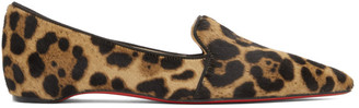 Christian Louboutin Brown Pony Kashasha Loafers