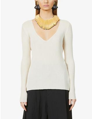 UMA WANG Self-tie cotton-knit top