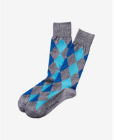 Express marled diamond dress socks