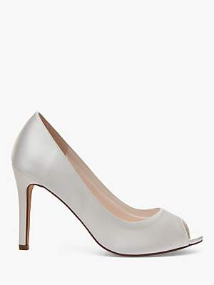 Rainbow Club Robyn Satin Peep Toe Court Shoes, Ivory