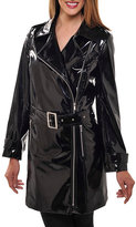 Peter Nygard Faux-Leather Trench Coat