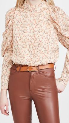 En Saison Floral Print Puffed Sleeve Blouse