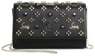 Christian Louboutin Paloma Studded Leather Clutch