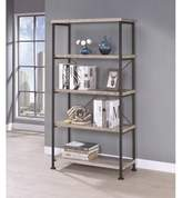 Bronx Ivy Chadron Etagere Bookcase Ivy Color: Gray Driftwood