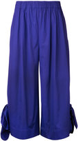 MSGM wide-legged cropped trousers - women - Cotton/Spandex/Elastane - 40