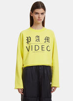 PAM Video Cropped Sweater in Yellow