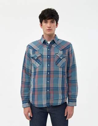 Polo Ralph Lauren RL Western Flannel Shirt in Azure