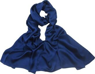 Pb Soar PB-SOAR 100% Mulberry Silk Long Scarf Shawl Stole Wrap Solid Color 180 x 70cm (Beige)