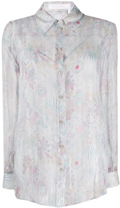 See by Chloe Sheer Floral-Print Shirt