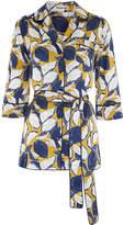 Whistles Sylvia Lemon Print Silk Top