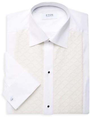 Eton Pique Diamond Front Dress Shirt