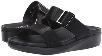 Munro American Cameron (Black/Black Combo) Women's Sandals