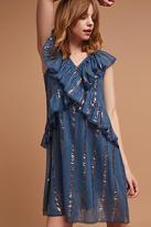 Tryb 212 Metallic Ruffled Dress