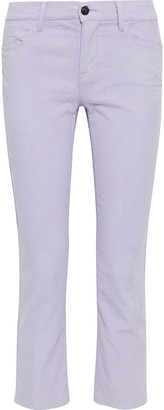 Frame Le High Ankle Cropped Cotton-blend Corduroy Slim-leg Pants
