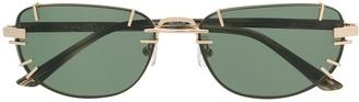 Linda Farrow Rectangular Shaped Sunglasses