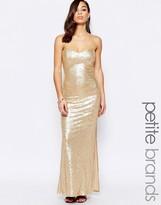 Lipstick Boutique Petite Bandeau Maxi Dress In Sequins