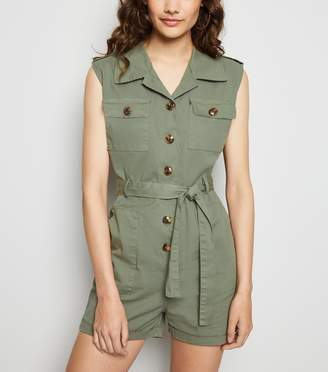 New Look Cameo Rose Utility Playsuit