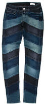 Closed Striped Low-Rise Skinny Jeans w/ Tags
