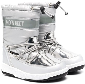 MOON BOOT KIDS Silver-Tone Moon Boots