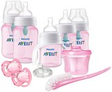 Philips Anti-Colic Bottles with Air Free Vent Newborn Starter Gift Set, Pink