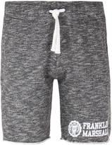 Franklin & Marshall Black Melange Raw Hem Jersey Shorts