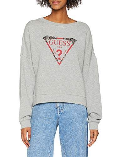 GUESS Women's W83q02k6oc0 Sports Hoodie, (Heather Grey Em94)