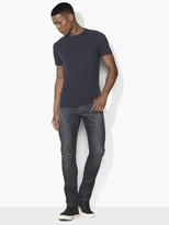 John Varvatos Micro-Striped Knit Crewneck
