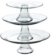 Anchor Hocking Tiered Pedestal Serving Plates - Set of 3