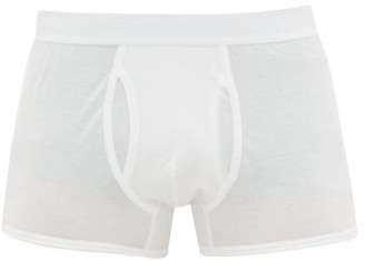 Sunspel Superfine Low Rise Cotton Boxer Briefs - Mens - White